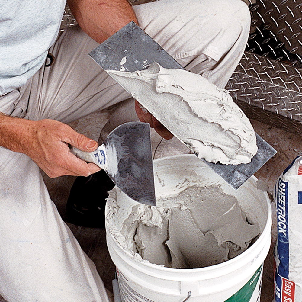 checking drywall compound