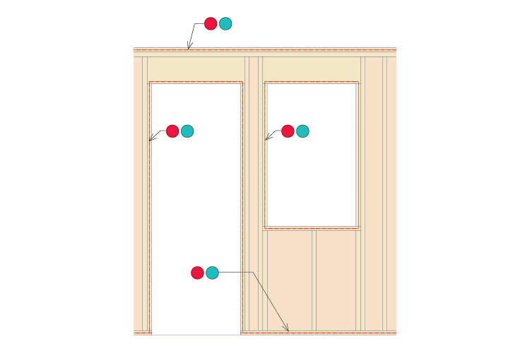 air seal on window and door frames