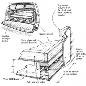 how to build plywood truck bed drawer