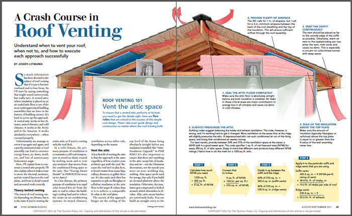 A Crash Course in Roof Venting - Fine Homebuilding on mobile home registers, mobile home underlayment, mobile home locks, mobile home hvac ducting, mobile home heating, mobile home furnace roof jack, mobile home pipes, mobile home drains, mobile home fans, mobile home borders, mobile home vent covers, mobile home air diffusers, mobile home grates,