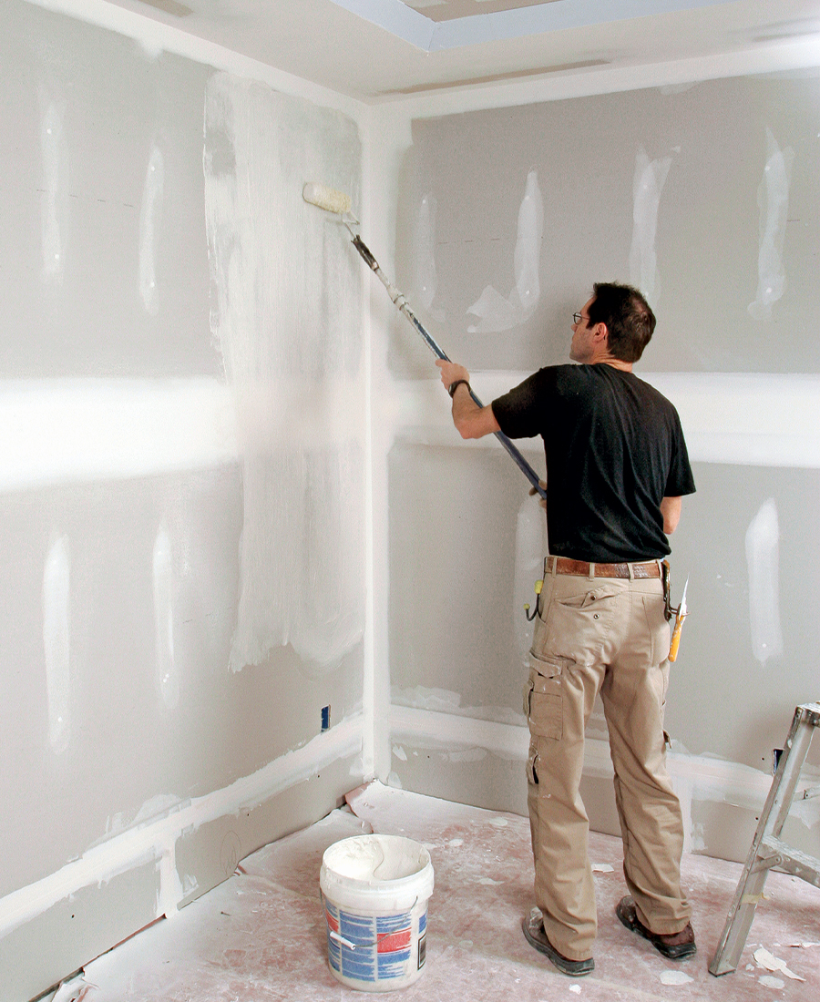 rolling drywall compound