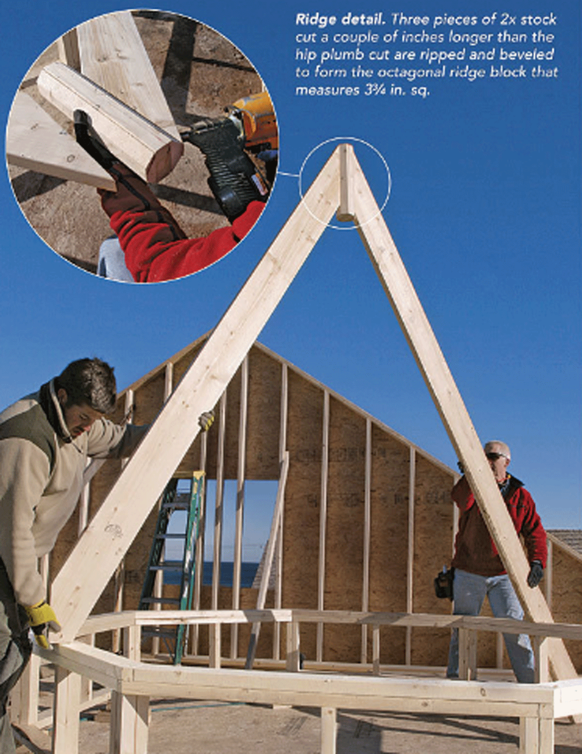 making an octagon roof