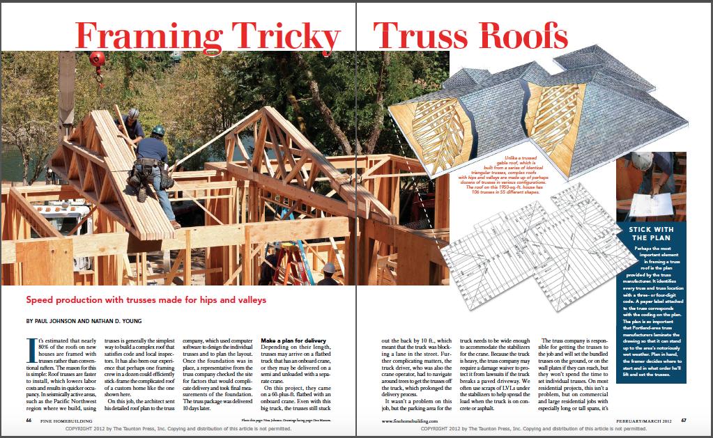 framing truss roofs magazine spread