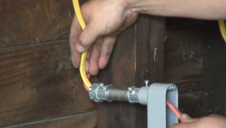 wiring through an electrical conduit