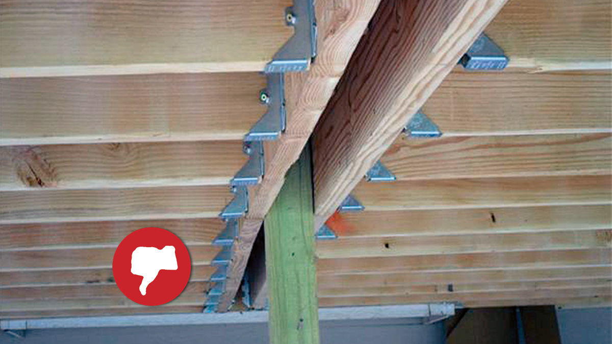 Mistake 3: Bolting beams to the sides of posts'