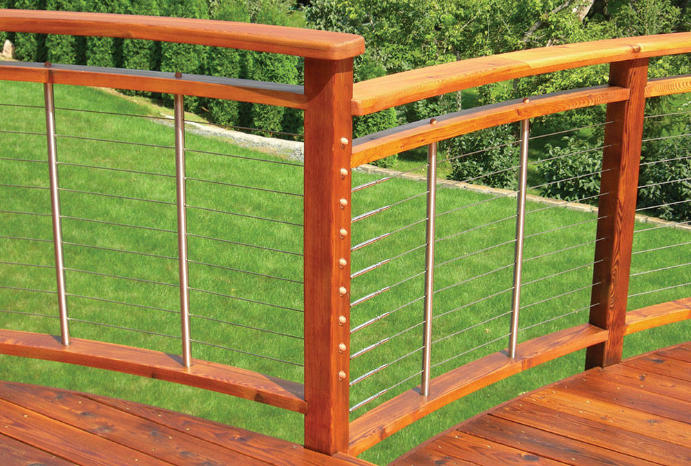 deck railing alternative: cable rail