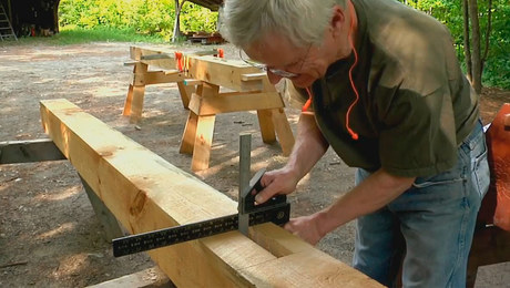 How To Mark and Cut a Mortise for a Timber Frame