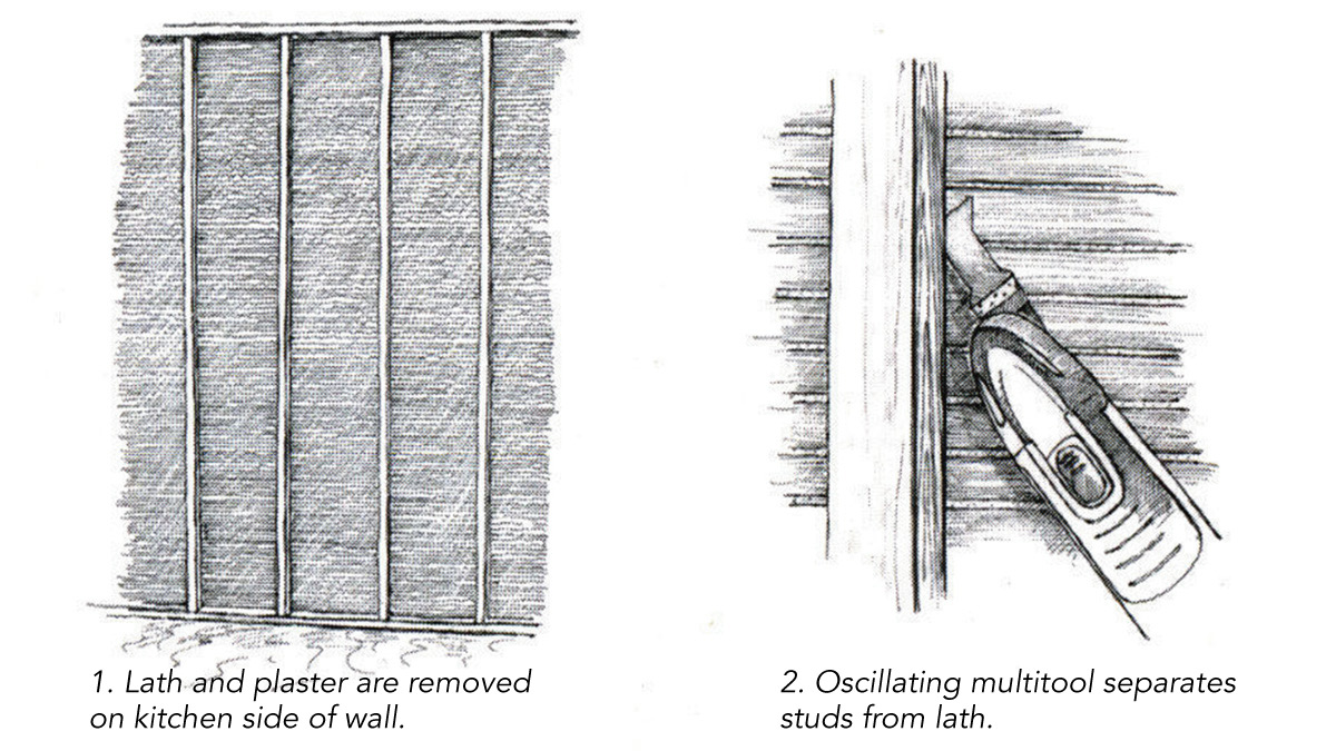 Modifying the Framing in Lath-and-Plaster Walls