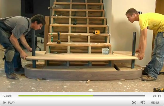 How to Create a Curved Stair Riser