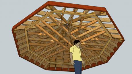 Octagon roof framing