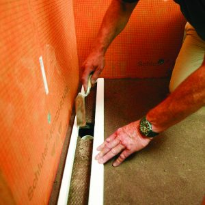 use foam spacer to double check template