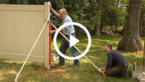 vinyl fence install 3