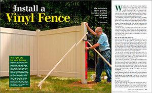 Install a Vinyl Fence