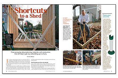 Rick Arnold's Shortcuts to a Shed