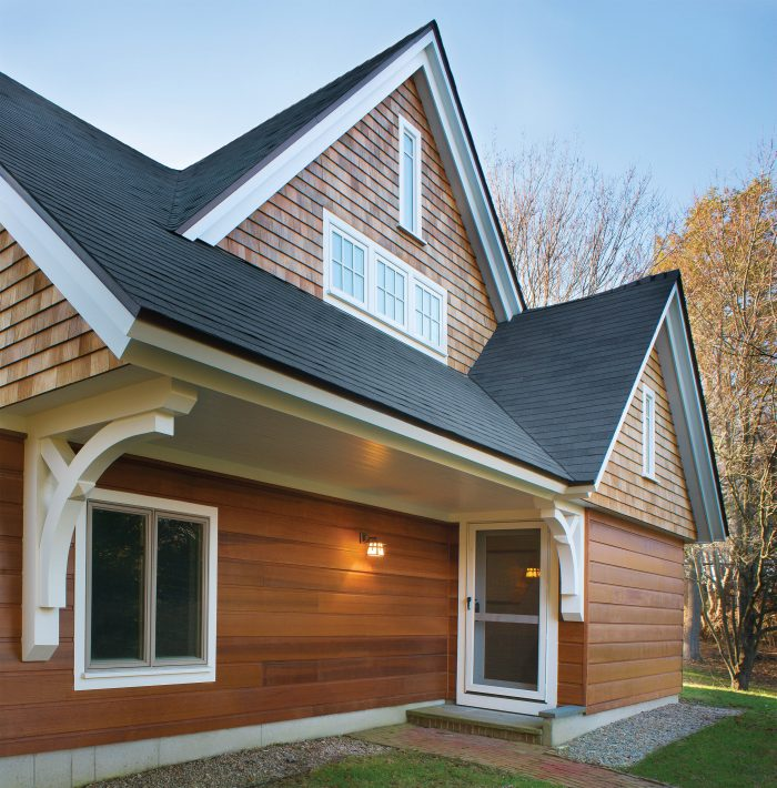 Shiplap and shingle. For traditional homes, you can't get more authentic than real wood.