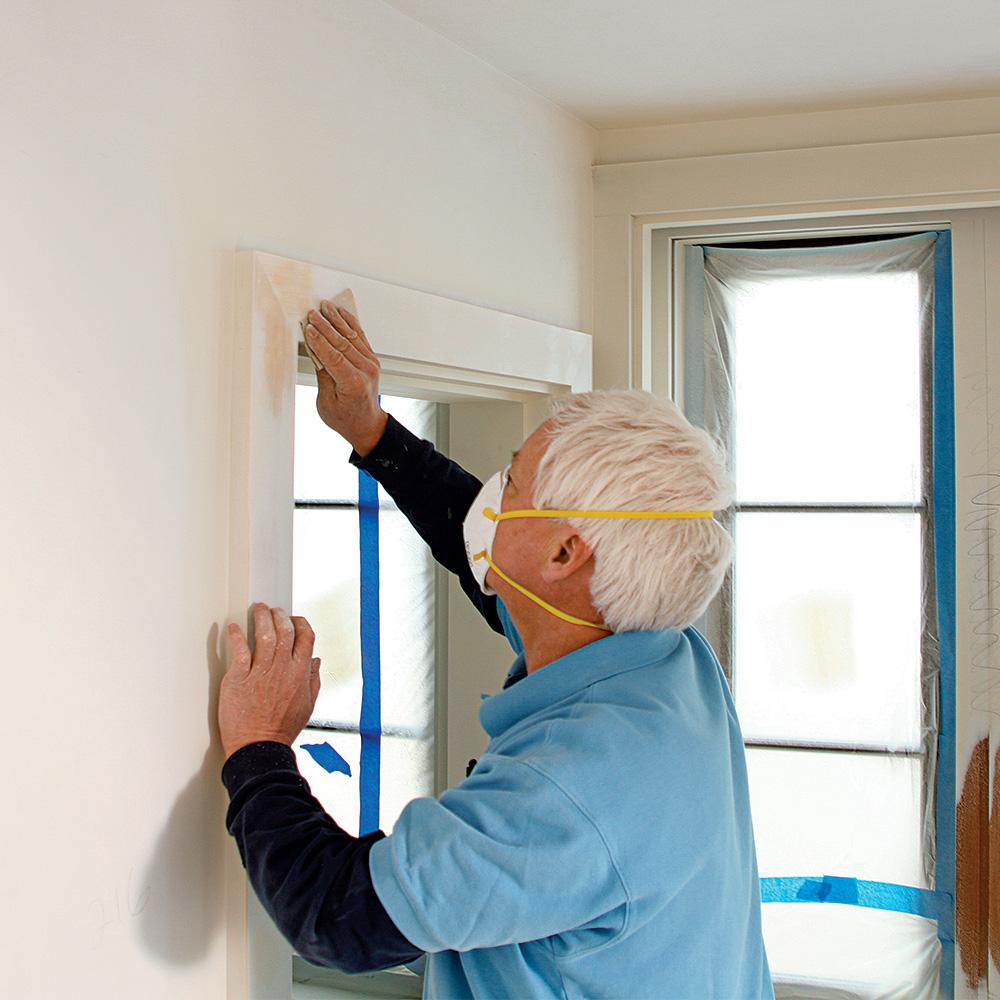sanding trim for paint