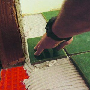no more than 1/4 inch gap between tiles