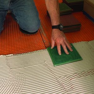 setting the first tile