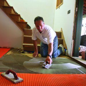 burnish then comb tile floor