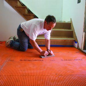 bond tile base with pressure