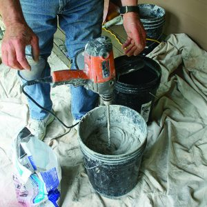 grout mixing for tile floor