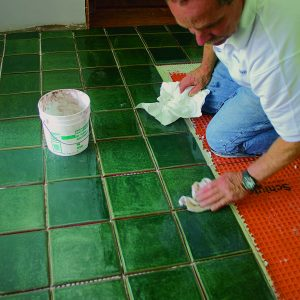 clean and seal high-traffic tile floor