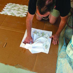 cleaning mosaic kitchen backsplash tiles
