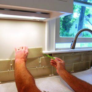 install kitchen tile