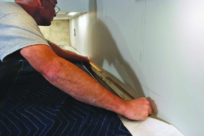 kitchen wood to relieve pressure between countertops