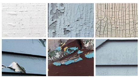 A collage of different ways that paint can fail
