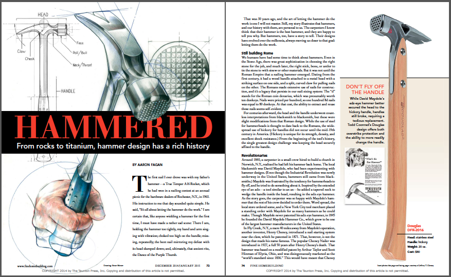 history of hammers magazine layout