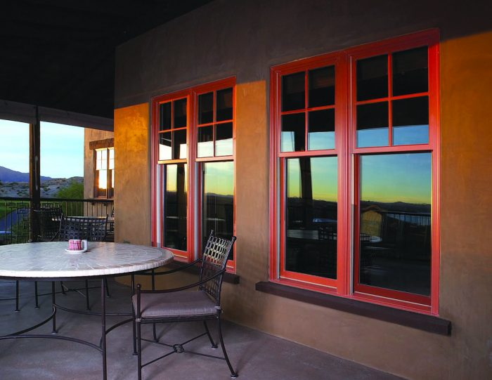 Double-Hung Windows with Specified Equal Light Grilles