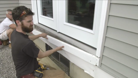 attaching a deck ledger to a house