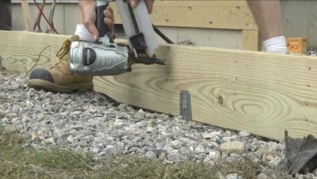 building a deck beam