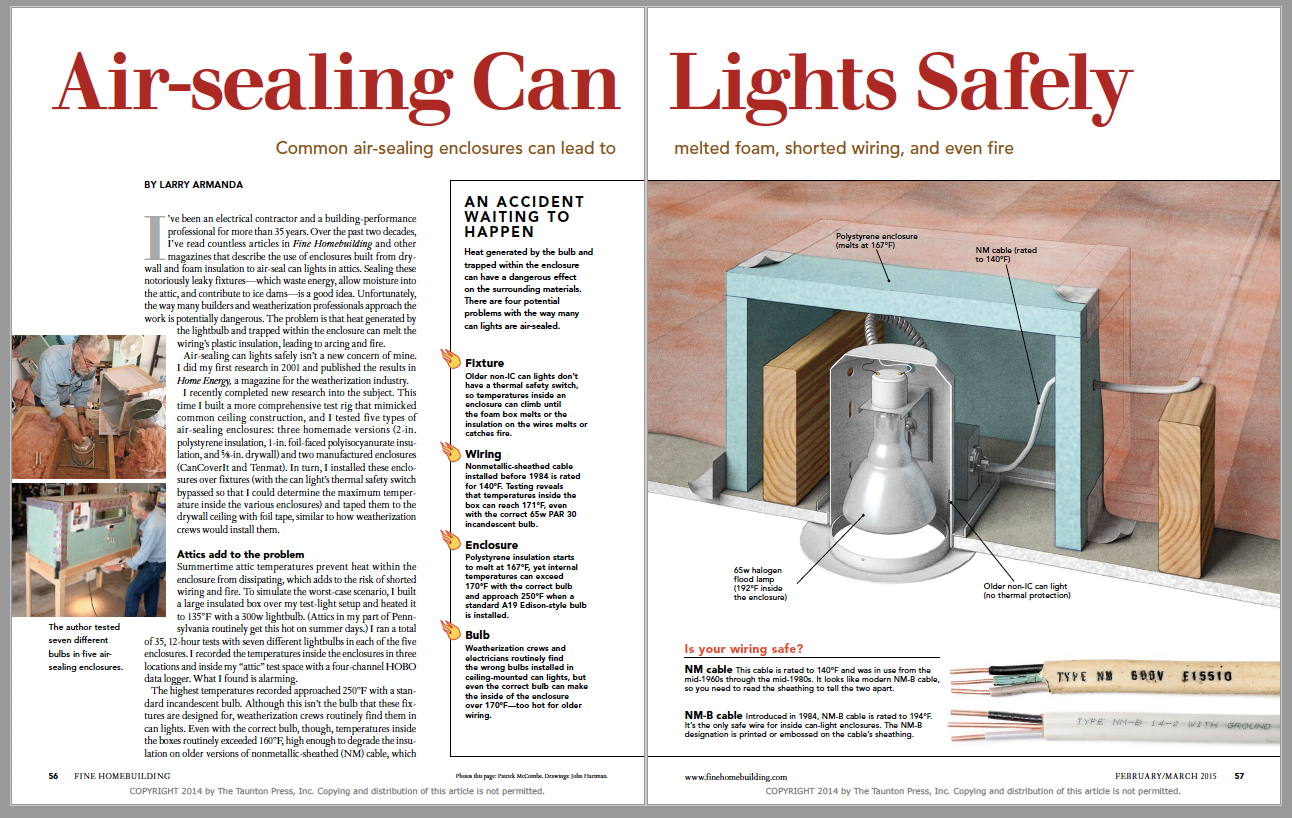 Air-Sealing Can Lights Safely