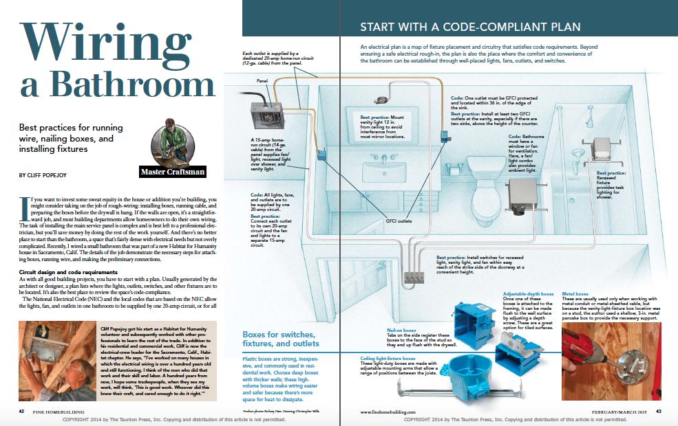 Wiring a Bathroom - Fine Homebuilding | Bathroom Wiring Plan |  | Fine Homebuilding