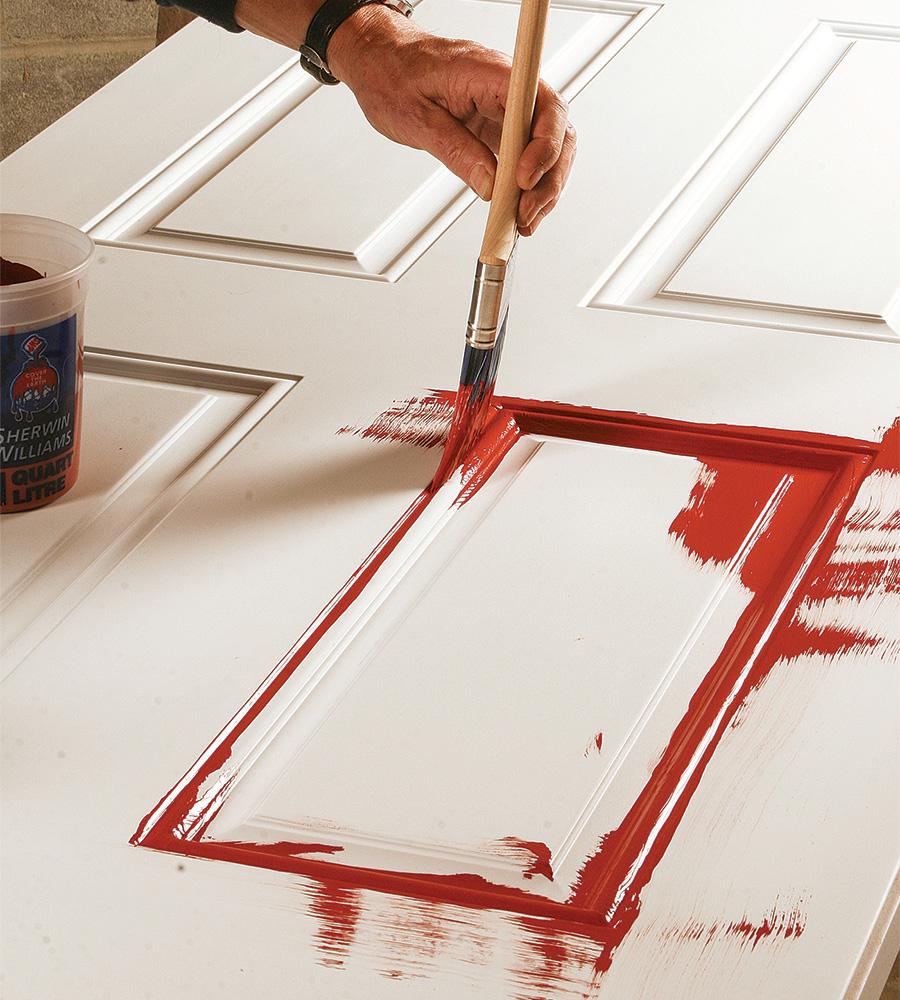 painting panel molding on door