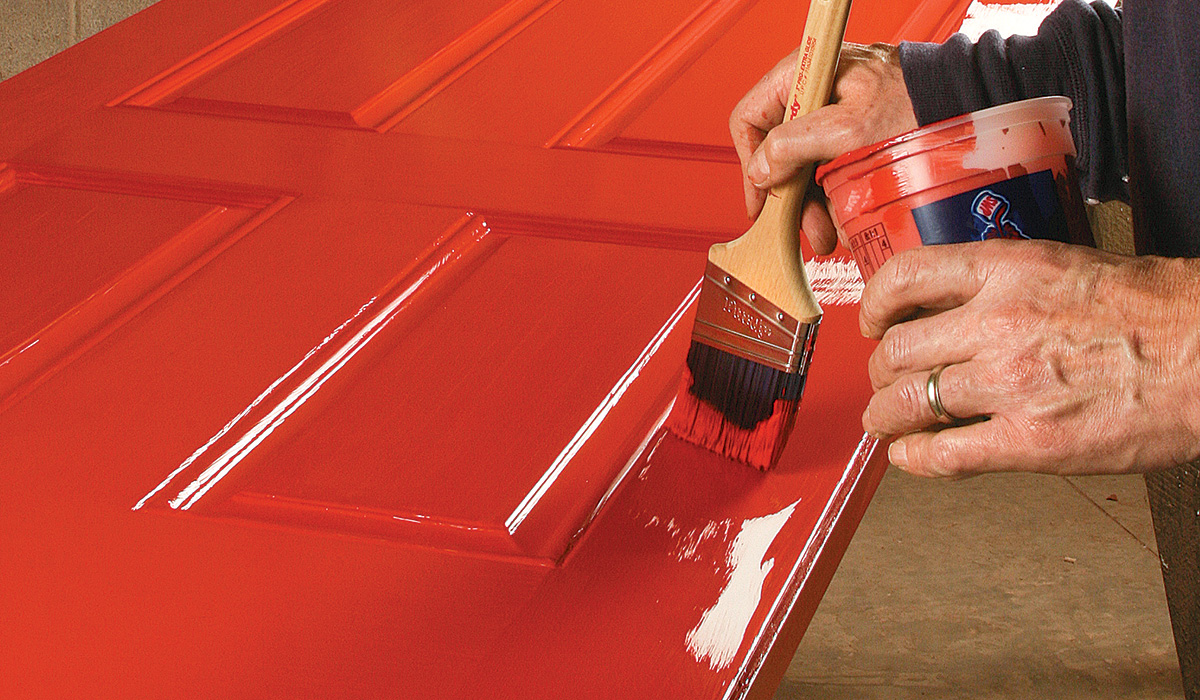 painting a steel door
