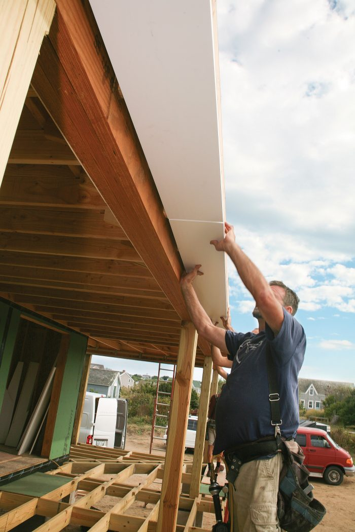 join soffits using butt joints without glue