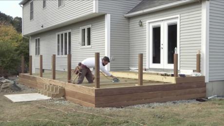 installing hardwood decking