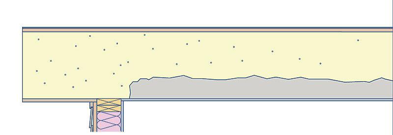 Interior closed-cell foam