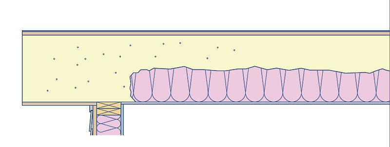 Interior closed-cell foam and blown-in fiberglass or cellulose