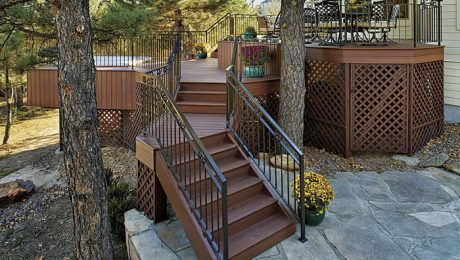 How many steps require a handrail