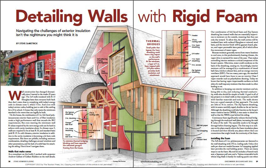 Detailing Walls With Rigid Foam spread