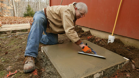 Placing a Small Concrete Slab