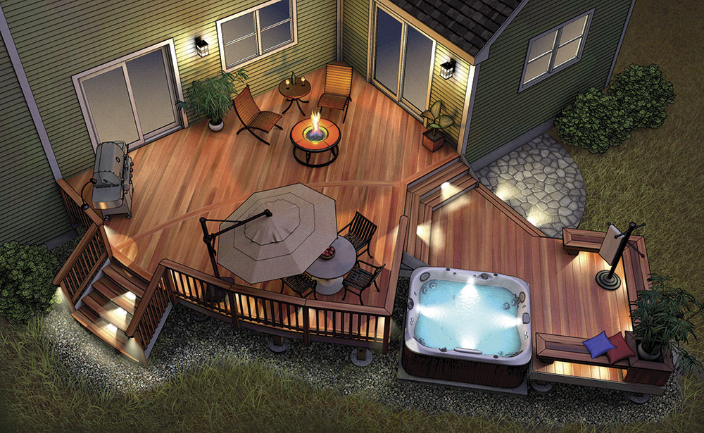 Bright Ideas For A Well Lit Deck Fine Homebuilding