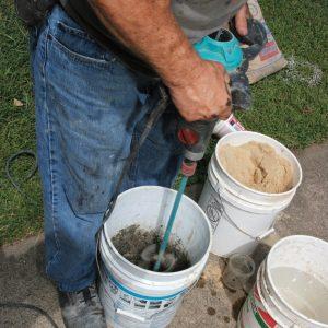 mix a dry mortar