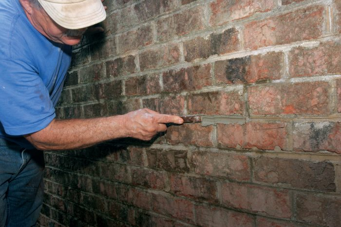 shape to match existing brick joints