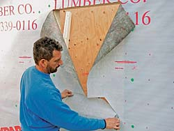 Make a horizontal cut and two angled cuts to the sill