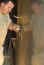 polishing plaster walls